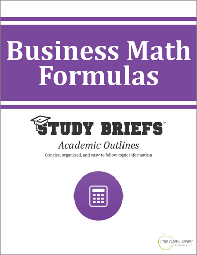 Business Math Formulas   2015 9781634261340 Front Cover