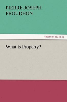 What Is Property?  N/A 9783842437340 Front Cover