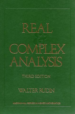 Real and Complex Analysis  3rd 1987 (Revised) edition cover