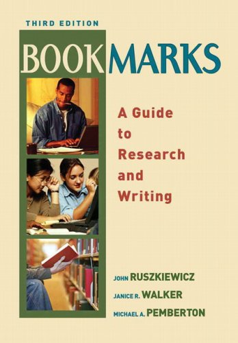 Bookmarks A Guide to Research and Writing 3rd 2006 edition cover
