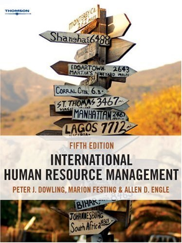 International Human Resource Management Managing People in a Multinational Context 5th 2008 edition cover