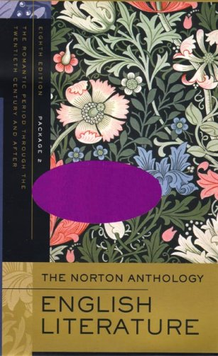 Norton Anthology of English Literature  8th edition cover