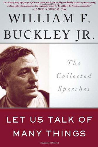 Let Us Talk of Many Things The Collected Speeches N/A edition cover