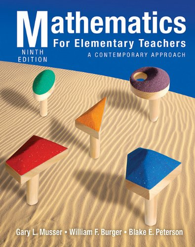 Mathematics for Elementary Teachers A Contemporary Approach 9th 2011 edition cover