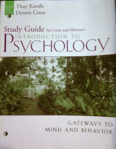 Introduction to Psychology Gateways to Mind and Behavior 11th 2007 9780495097341 Front Cover
