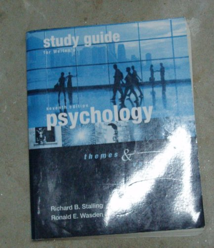 Psychology Study Guide Themes and Variations 7th 2007 edition cover