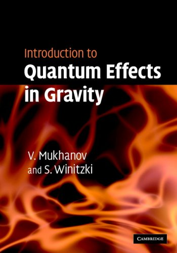 Introduction to Quantum Effects in Gravity   2007 9780521868341 Front Cover