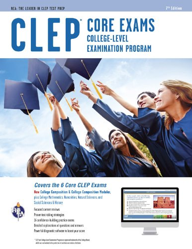 CLEP Core Exams W/Online Practice Tests:   2013 edition cover