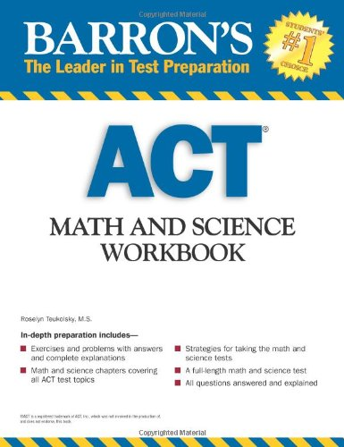 Barron's ACT Math and Science Workbook   2009 (Workbook) edition cover