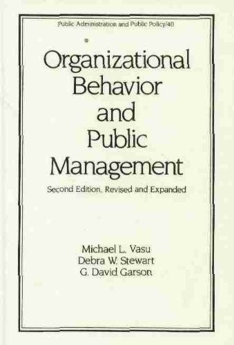 Organizational Behavior and Public Management 2nd (Revised) edition cover