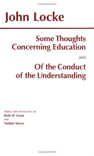 Some Thoughts Concerning Education and of the Conduct of the Understanding   1996 edition cover