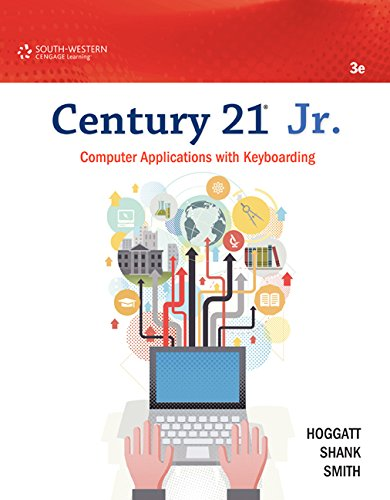Century 21 Jr.: Computer Applications With Keyboarding  2015 9781133365341 Front Cover