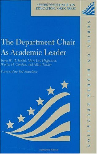 Department Chair as Academic Leader   1999 edition cover
