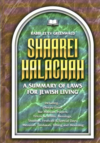 Shaarei Halachah : A Summary of Laws for Jewish Living  2001 edition cover