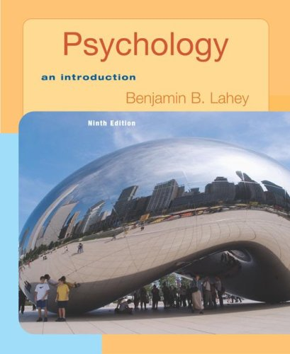 Psychology : An Introduction 9th 2007 9780077236342 Front Cover