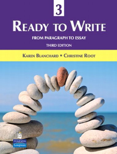 Ready to Write 3 From Paragraph to Essay 3rd 2010 edition cover