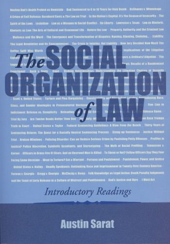 Social Organization of Law Introductory Readings  2004 edition cover