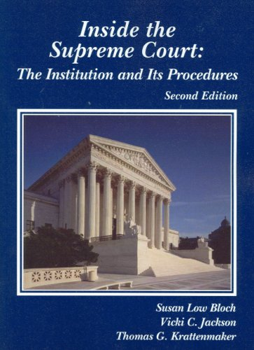 Inside the Supreme Court The Institution and Its Procedures 2nd 2008 (Revised) edition cover
