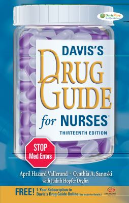 Davis's Drug Guide for Nurses  13th 2013 (Revised) edition cover