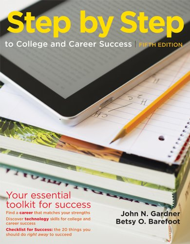 Step by Step to College and Career Success  5th edition cover