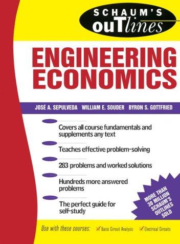 Schaum's Outline of Engineering Economics   1984 edition cover