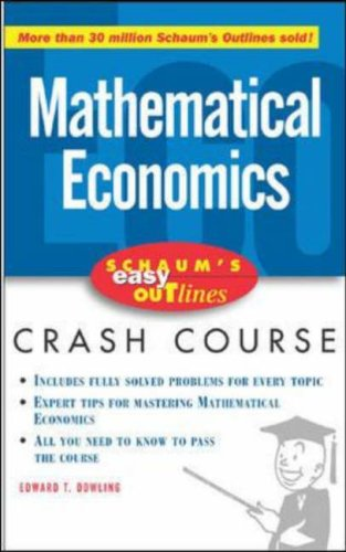 Schaum's Easy Outline of Introduction to Mathematical Economics   2006 9780071455343 Front Cover