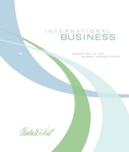 International Business  7th 2009 edition cover