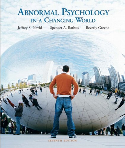 ABNORMAL PSYCH.IN CHANGING...- N/A 9780137137343 Front Cover