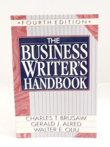 Business Writer's Handbook 4th edition cover