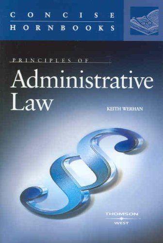 Principles of Administrative Law   2007 edition cover