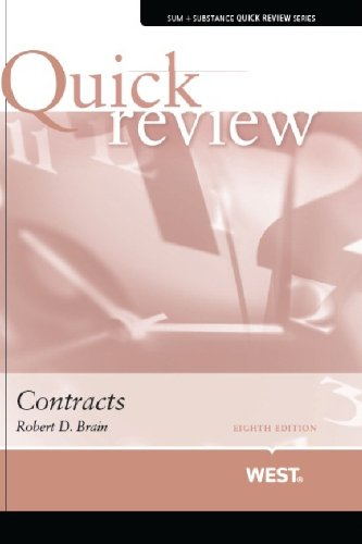 Sum and Substance Contracts 8th 2013 (Revised) 9780314280343 Front Cover