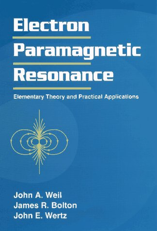 Electron Paramagnetic Resonance Elementary Theory and Practical Applications 1st 1994 9780471572343 Front Cover