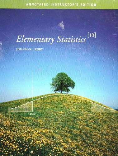 ELEM.STATISTICS-W/2 CDS >ANNOT 10th 2007 9780495105343 Front Cover