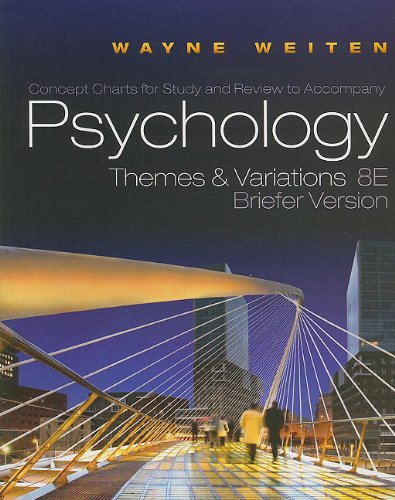 Concept Charts for Weiten's Psychology: Themes and Variations, Briefer Edition, 8th  8th 2011 edition cover