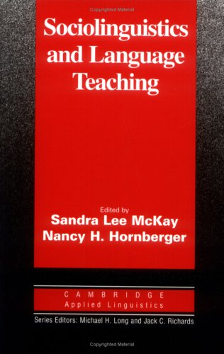 Sociolinguistics and Language Teaching   1996 edition cover
