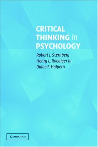 Critical Thinking in Psychology   2006 edition cover