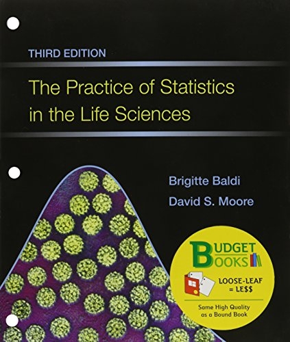The Practice of Statistics in the Life Sciences + Crunchit/Eesee Access Card:   2013 edition cover