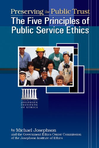 Preserving the Public Trust : The Five Principles of Public Service Ethics  2005 edition cover
