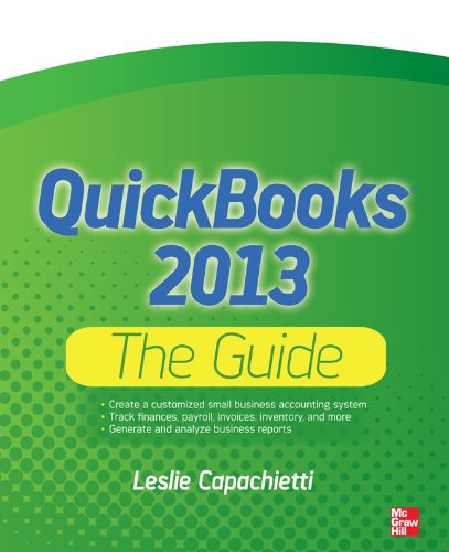 QuickBooks 2013 the Guide   2013 edition cover