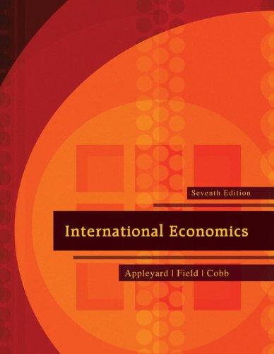 International Economics  7th 2010 edition cover