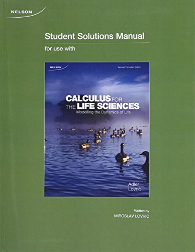 CALCULUS FOR LIFE SCIENCE >CANADIAN<    N/A 9780176571344 Front Cover