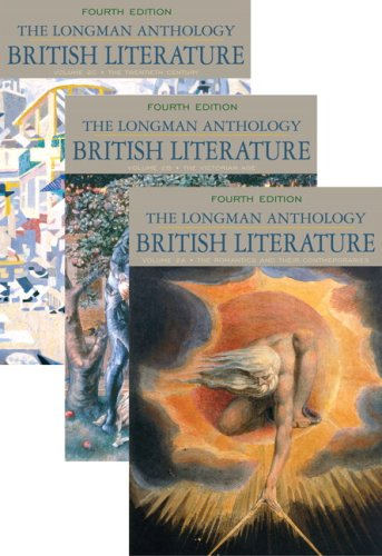 Longman Anthology of British Literature, Volumes 2A, 2B, And 2C  4th 2010 9780205693344 Front Cover