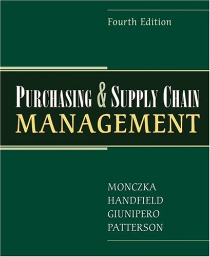 Purchasing and Supply Chain Management  4th 2009 edition cover