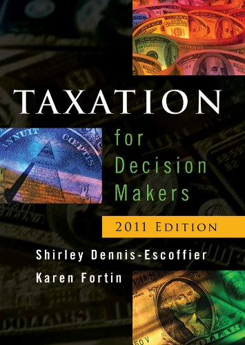 Taxation for Decision Makers  2011st 2011 9780470879344 Front Cover