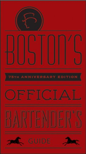 Mr. Boston Official Bartender's Guide  75th 2011 (Anniversary) edition cover