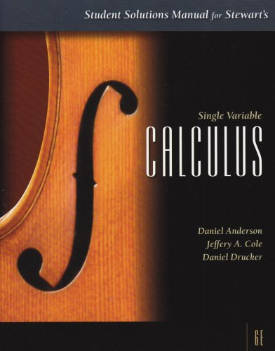 Student Solutions Manual for Stewart's Single Variable Calculus, 6th  6th 2008 edition cover