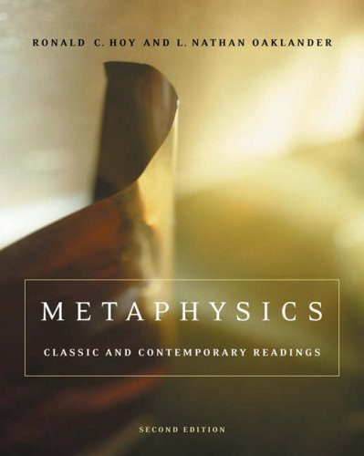Metaphysics Classic and Contemporary Readings 2nd 2005 (Revised) edition cover