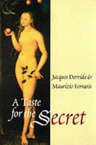 Taste for the Secret   2001 9780745623344 Front Cover
