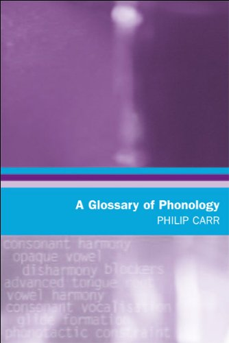 Glossary of Phonology   2006 9780748622344 Front Cover
