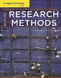 Cengage Advantage Books: Research Methods  9th 2013 edition cover